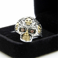 Mens UniquePunk Style Ring Skull Casual Jewelry Best Gift One Size Rings-95