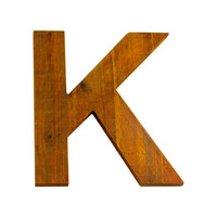 Wooden Letter K Wall Decor