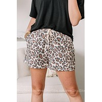 Loungin' Cheetah Print Drawstring Shorts