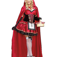 Little Red Adult Womens Plus Size Costume - Spirithalloween.com