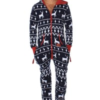 Blue Reindeer Jumpsuit | Tipsy Elves