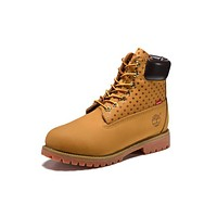 Timberland 10063 Mens Boots Women Shoes Yellow Wool for Warm