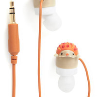 ModCloth Quirky Leading Hedgehog Earbuds