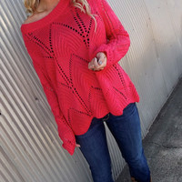 Wave on Wave Sweater - PINK | The Rage
