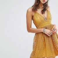 Missguided Crochet Lace Skater Dress at asos.com