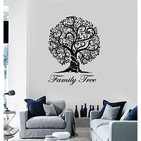 Vinyl Wall Decal Family Tree Floral Nature Art Living Room Stickers Mural (g3683)