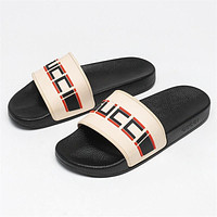 GUCCI GG Summer Men's and Women's All-match Slippers Shoes