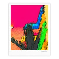 "Oriana Cordero ""Days of Summer"" Rainbow Abstract Fine Art Gallery Print"