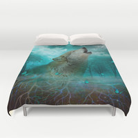 I'll See You In My Dreams (Cry of the Wolf) Duvet Cover by soaring anchor designs ⚓   Society6