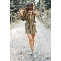 Here On Business Dress (Olive)