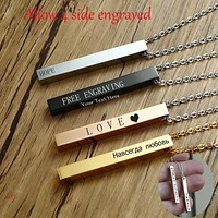 Fashion Accessories and Jewelry Long Bar Vertical Necklace For Men Women