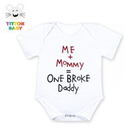 Me and Mommy Broke Daddy Baby Onesuit