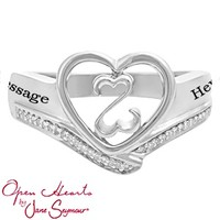 Kay - 1/20 Ct. tw Diamond Couple's Heart Ring