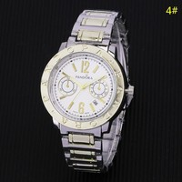Pandora New fashion round shell letter couple quartz wristwatch watch 4#