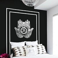 Wall Decal Vinyl Sticker Decals Art Decor Design Hamsa Hand Om Lotus indian Buddha Ganesh Modern Bedroom Dorm Office Mural (r1127)