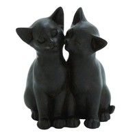 Traditional Lovely A Pair Of Two Cuddling Figurine Poly Stone Cats Home Decor - Walmart.com