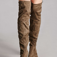 Yoki Suede Over-the-Knee Boots