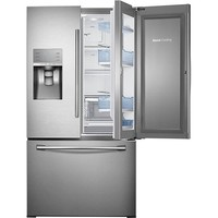 Samsung - Showcase 30.2 Cu. Ft. French Door Refrigerator with Thru-the-Door Ice and Water - Stainless-Steel