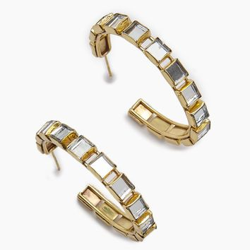 Destina Disco Mirrored Hoop Earrings - Gold
