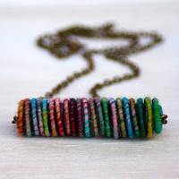 Forest Yarn Bead Necklace