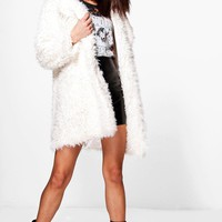 Kerry Shaggy Faux Fur Coat
