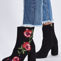 MADAME Black Embroidery Boots