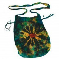 Natural Cotton Tie Dye Cinch Sack.