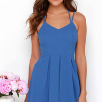 To the Rescue Blue Dress