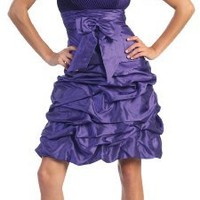 US Fairytailes Strapless Bow Pick-up Formal Bridesmaid Prom Dress #2505