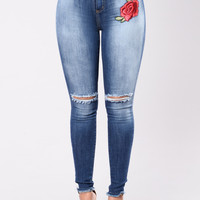 Zoey Rose Jeans - Medium Wash