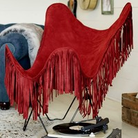 Junk Gypsy Red Fringe Butterfly Chair