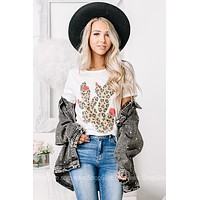 Leopard Cactus Flower Graphic Tee