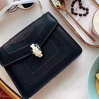 Bvlgari hot seller of women's single-shoulder slant bags in solid color High quality