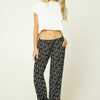 Cat Print PJ Pants
