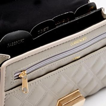 River Island Grey Quilted Mix Travel Organiser at asos.com