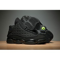 Air Jordan Retro 13 Black Cat Men Women Basketball Shoes Retro 13s Sports Sneaker Athletics Shoes Size 36 47