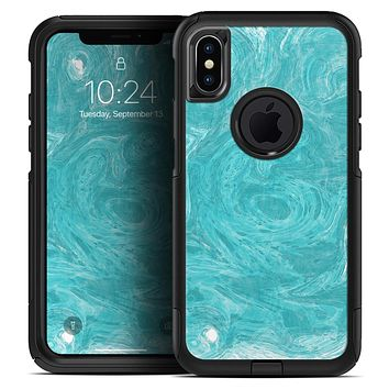 Marble Surface V1 Teal - Skin Kit for the iPhone OtterBox Cases
