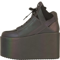 Y.R.U for Women: Qozmo Hi Reflective Platform Sneakers