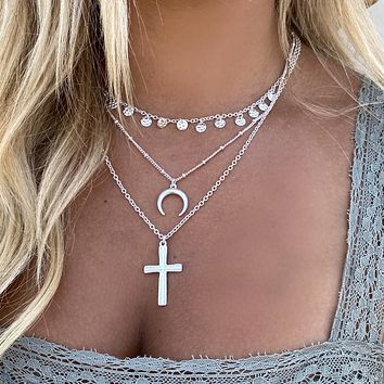In Harmony Silver Layered Necklace