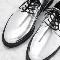Metallic Faux Patent Oxfords