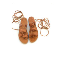 Ancient Greek Spartan style Genuine leather handmade 100% sandals