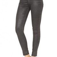 The Legging Ankle - Leatherette Super Black | AG Jeans Official Store