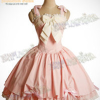 Classical Lolita Steel Boned Build-in Corset Detached Straps Wave Bottom Dress&Rose Hairdress*4color