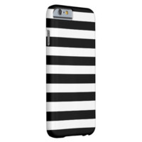 Black And White Stripes. Elegant, Chic Fashionable Barely There iPhone 6 Case