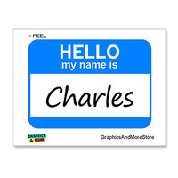 Charles Hello My Name Is Sticker
