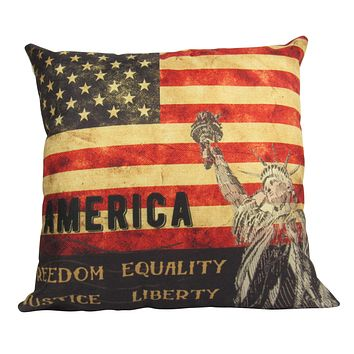 Statue of Liberty   Pillow Cover   Throw Pillow   Home Decor   Decor Rustic   Home Decor Ideas   Gifts For Travelers   Dad Gift   Gift Idea