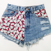 the Hello Kitty  Limited Edition  High waisted by queendenim