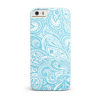 Light Blue Paisley Floral iPhone 5/5S/SE INK-Fuzed Case