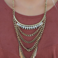 Saturday Night Necklace - Gold