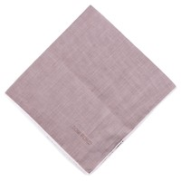 Tom Ford Men's Solid Mauve Silk Pocket Square